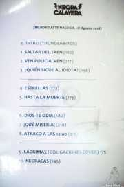 Setlist de Negracalavera (Bilborock, Bilbao, 2018)