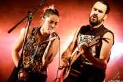 "Xandra de la Vega -voz, ukelele y xilofón- y Guillermo Santibáñez ""Will"" -guitarra, banjo, voz- de Mud Candie (Aste Nagusia - Euskalgune, Bilbao, 2018)"