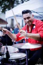 Iván Ted, baterista de Micky & The Buzz (Aste Nagusia - Txosna Piztiak, Bilbao, 2018)