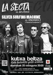 Cartel de La Secta y Silver Surfing Machine (Kafe Antzokia, Bilbao, )