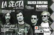 Entrada de La Secta y Silver Surfing Machine (Kafe Antzokia, Bilbao, )