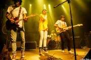 Pablo Moreno -guitarra y voz-, Cristina Lizarraga -cantante invitada-, Sergio Gil -bajo- y Roberto Villar -batería- de Yellow Big Machine (Kafe Antzokia, Bilbao, 2018)