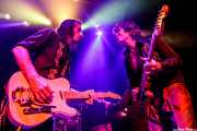"""Joseba B. Lenoir -guitarra- e Iñigo Azazeta """"Anti"""" -guitarra- de Sumisión City Blues (Rock&Rolla, Berango, 2018)"""
