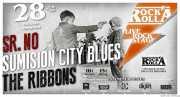 Cartel de Sumisión City Blues, Señor No y The Ribbons (Rock&Rolla, Berango, )