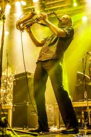 Mihail Goldfingers, saxofonista y flautista de The Cherry Boppers (Santana 27, Bilbao, 2018)