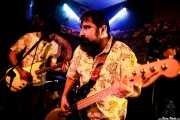 Igor Peralta -guitarra- y Sergio Gil -bajo- de Dead Sequoia (El Tubo, Barakaldo, 2019)