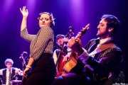 Pablo Cabra -batería y tabla de lavar-, Helena Amado -voz-, Camilo Bosso -contrabajo- y Matías Comino -guitarra y banjo- de O Sister! (Kafe Antzokia, Bilbao, 2019)