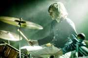 Javier Vallejo, baterista de Oskar Benas Instro Combo (La Nube Café Teatro, Bilbao, 2019)