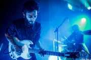 Oskar Benas -guitarra- y Javier Vallejo -batería- de Oskar Benas Instro Combo (La Nube Café Teatro, Bilbao, 2019)