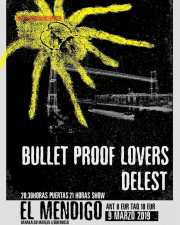Cartel de Bullet Proof Lovers y Delest
