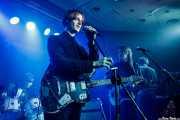 """Charlie Salvidge -batería-, Tom Dougall -voz y guitarra-, Maxim """"Panda"""" Barron -bajo y voz- y Max Oscarnold -teclados- de Toy (Kafe Antzokia, Bilbao, 2019)"""