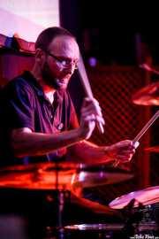 Patxi Gómez, baterista de Diablo Cuney (Hika Ateneo, Bilbao, 2019)