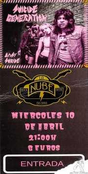Entrada de Suicide Generation (La Nube Café Teatro, Bilbao, )