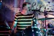 Andy Morten, baterista de Bronco Bullfrog (Nave 9 (Museo marítimo), Bilbao, 2019)