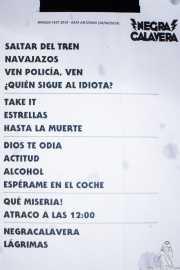 Setlist de Negracalavera (Kafe Antzokia, Bilbao, 2019)