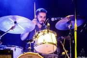 Ander Alonso, baterista de Mississippi Queen & The Wet Dogs (Kafe Antzokia, Bilbao, 2019)