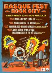 Cartel del BasqueFest Rock City 2019 (Kafe Antzokia, Bilbao, )