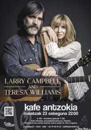 Cartel de Larry Campbell & Teresa Williams (Kafe Antzokia, Bilbao, )