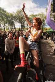 Dani Miller, cantante de Surfbort (Azkena Rock Festival, Vitoria-Gasteiz, 2019)