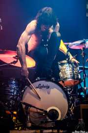 Marco Rivagli, baterista de The Fuzztones (Kafe Antzokia, Bilbao, 2019)