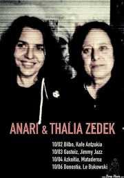 Cartel de Thalia Zedek & Anari (Kafe Antzokia, Bilbao, )