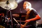 Tobias Strandvik, baterista de Kamchatka (Santana 27, Bilbao, 15/XII/2019)