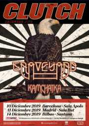 Cartel de Clutch, Graveyard y Kamchatka  (Santana 27, Bilbao, 2019)