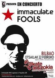 Cartel de Immaculate Fools (Kafe Antzokia, Bilbao, )