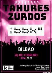 Cartel de Tahúres Zurdos (Sala BBK, Bilbao, )