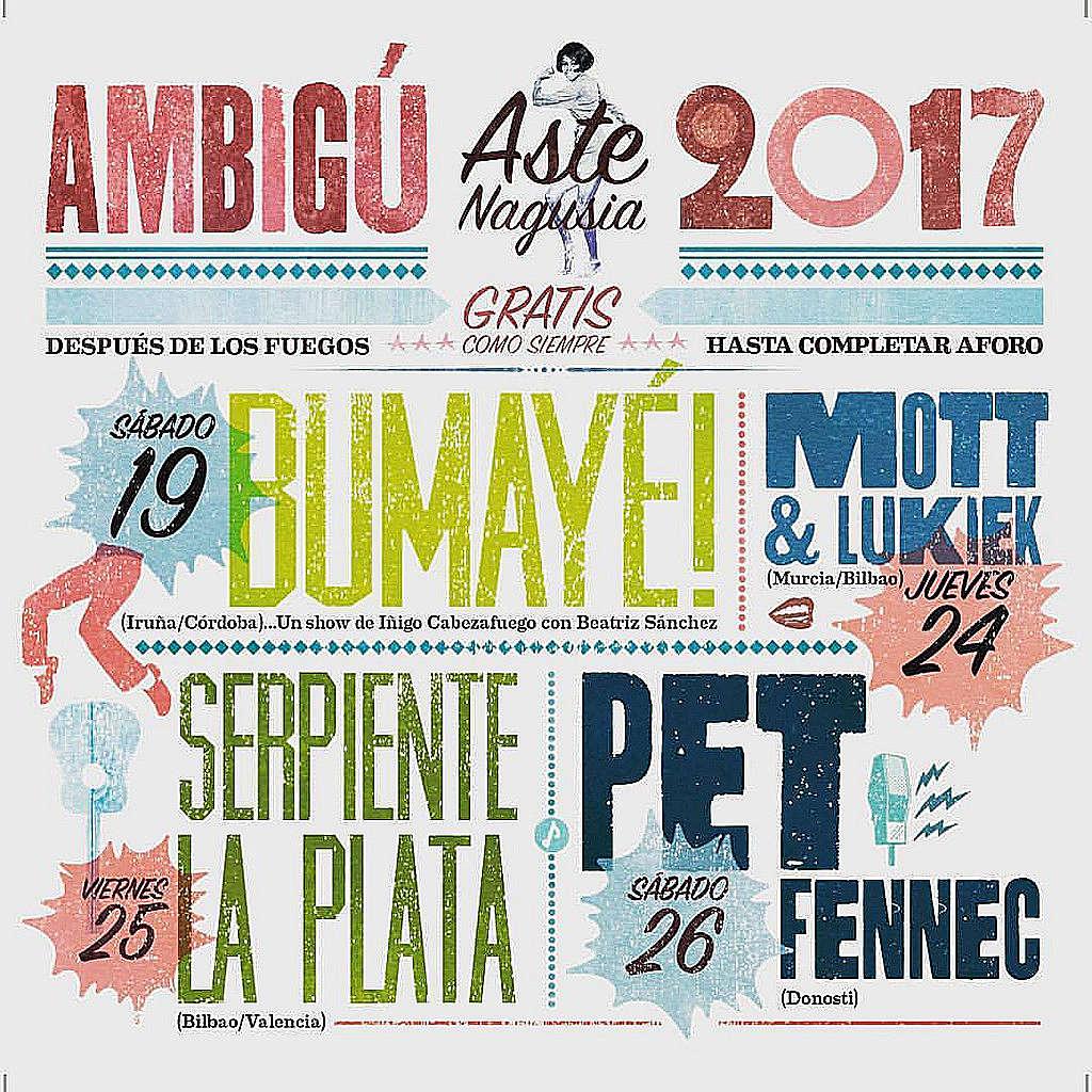 Cartel Aste Nagusia 2017 Ambigú