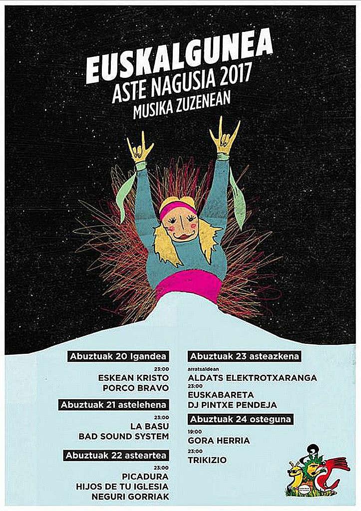 Cartel Aste Nagusia 2017 Euskalgunea
