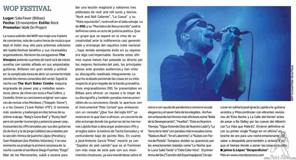Zarata - Mondo Sonoro 245, diciembre de 2016 (pág. 13) (Santana 27, Bilbao, )