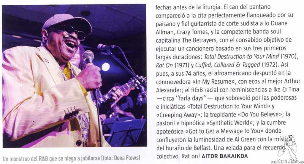 Ruta 66 346, marzo de 2017 (pág. 28) (Kafe Antzokia, Bilbao, )