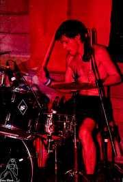 Andoni Etxebeste, baterista de Señor No (Discoteca Gwendolyne, Getxo, )