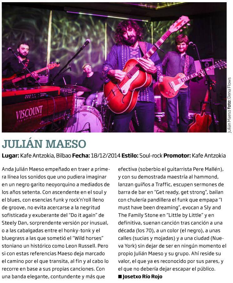 Captura de la crónica y foto de Julián Maeso en Zarata-Mondo Sonoro (enero de 2015)