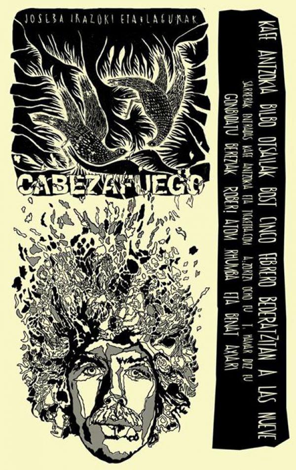 Cartel de Joseba Irazoki eta Lagunak y Cabezafuego en el Kafe Antzokia