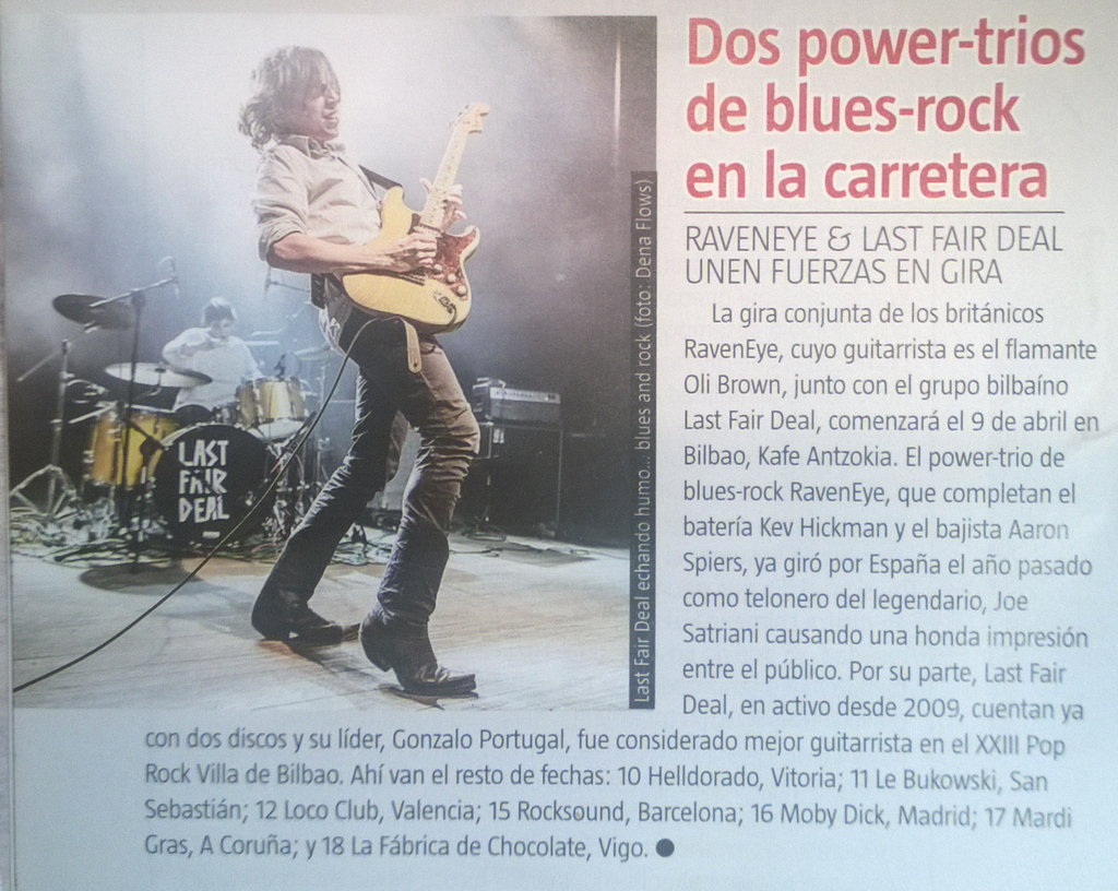 Captura de la noticia de Last Fair Deal en Ruta 66 (febrero de 2015)