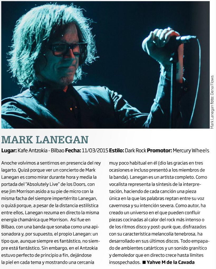 Captura de la crónica y foto de Mark Lanegan Band en Zarata-Mondo Sonoro (abril de 2015)