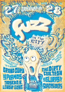 Cartel del festival Fuzz in the city 2015