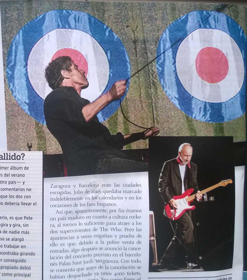 Captura de las fotos de The Who aparecidas en Ruta 66 (abril de 2015) - II