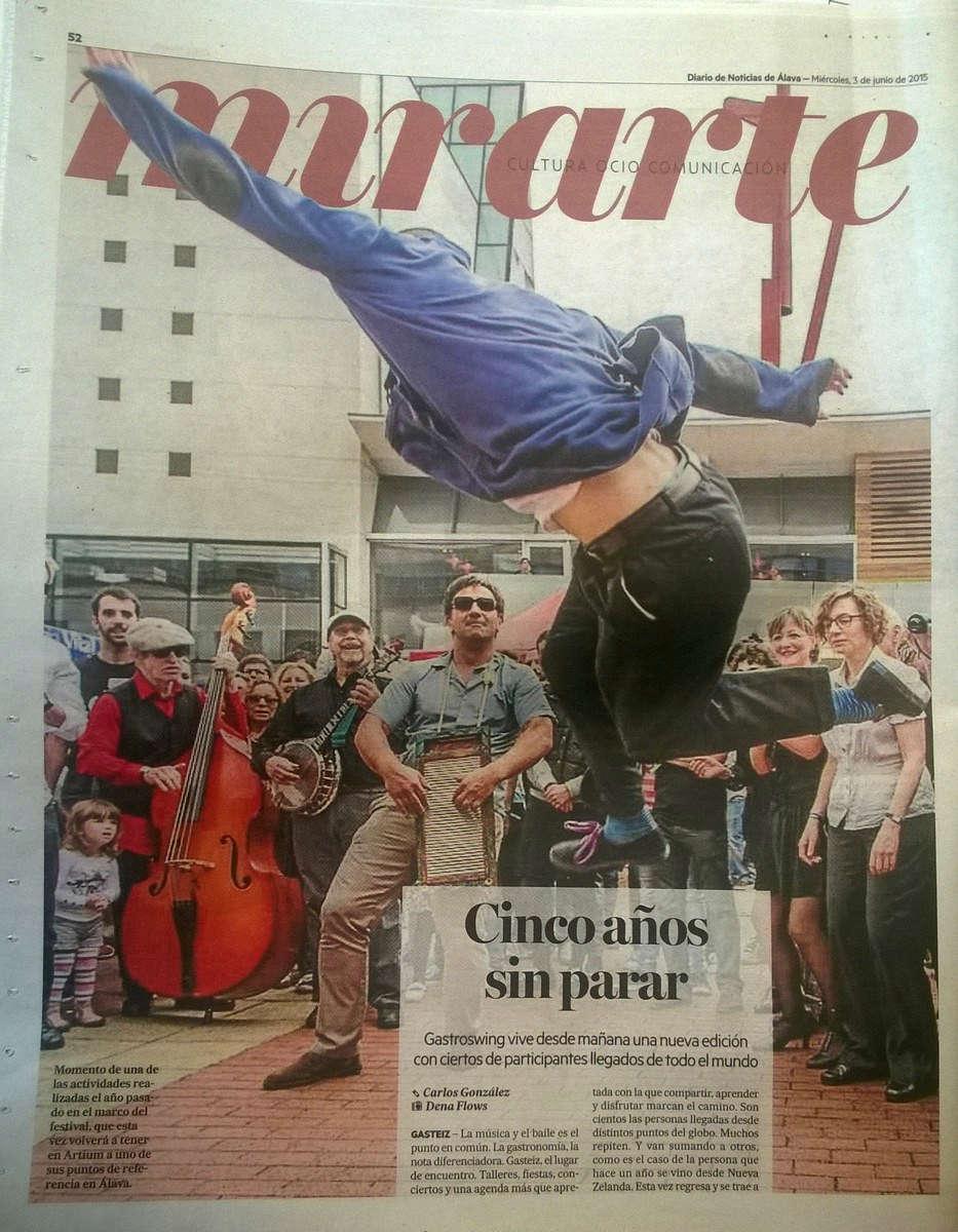 Gastroswing en el Diario de Noticias de Álava. Foto Dena Flows