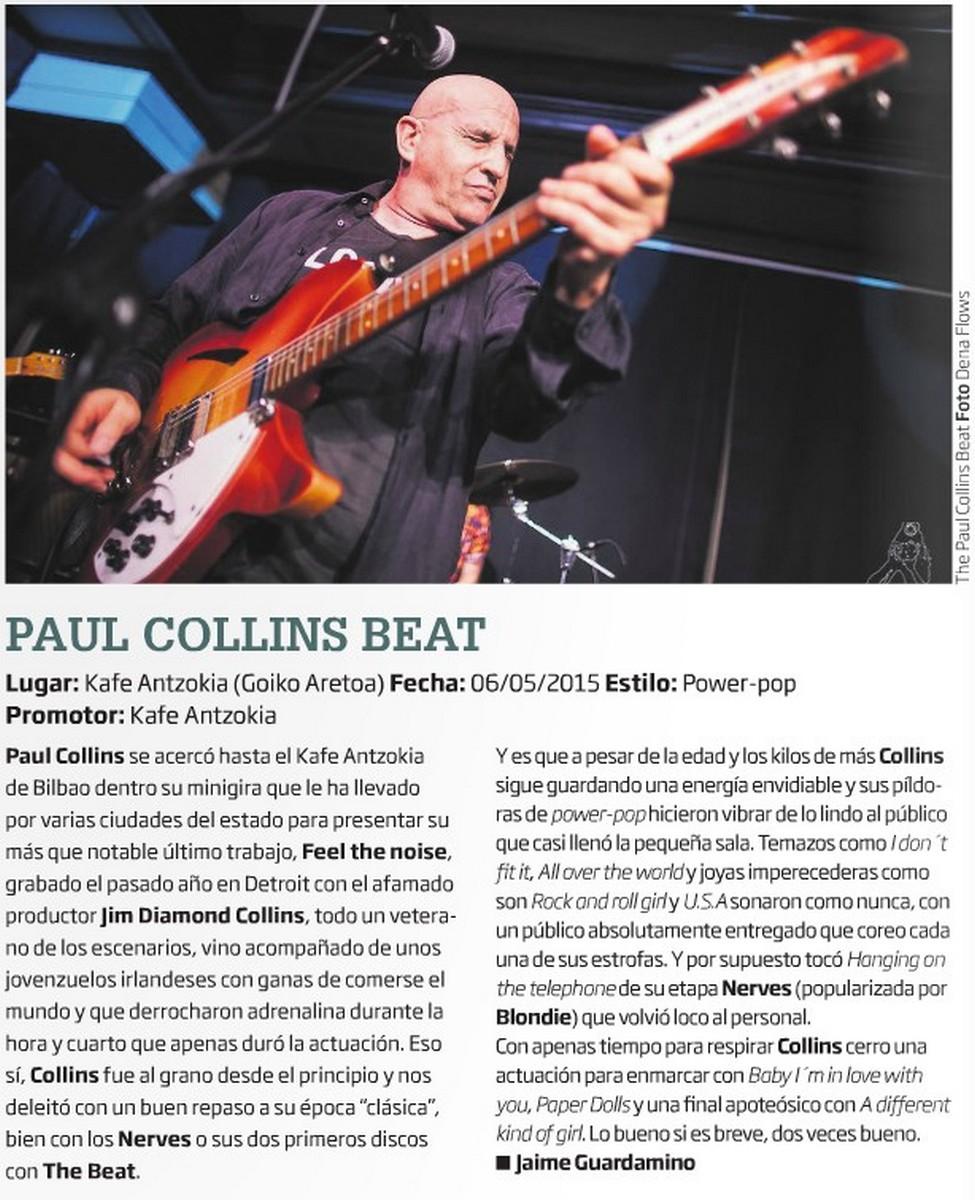 Paul Collins Beat en Zarata-Mondo Sonoro de junio de 2015
