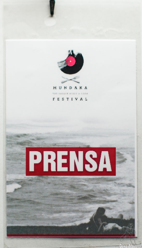 Acreditación de Mundaka Festival 2015, Santa Katalina, Mundaka, 1/VIII/2015