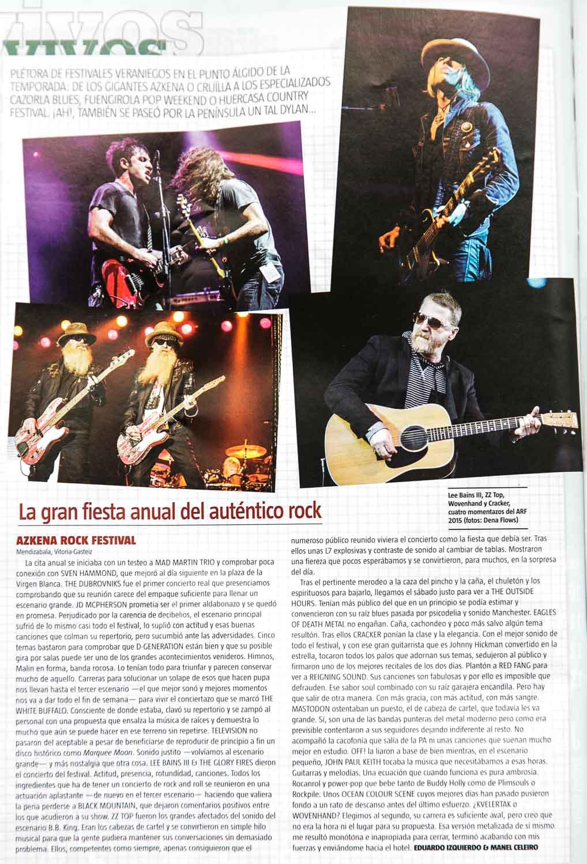Azkena Rock Festival en Ruta 66 329, septiembre de 2015