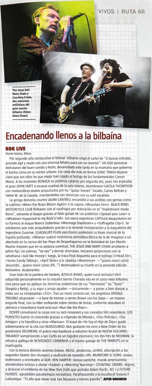 Crónica del Bilbao BBK Live 2015 por Aitor Bakaikoa con fotos de The Jesus & Mary Chain y Counting Crows
