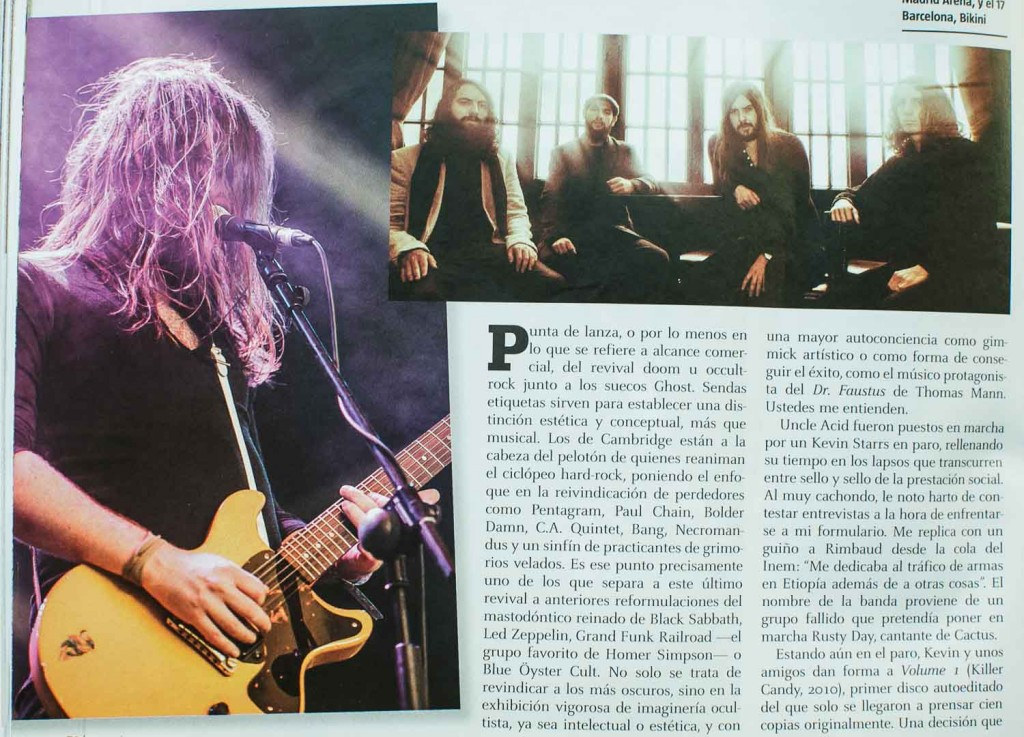 Informe sobre Rock and Ocultismo de Iván López Navarro con foto de Uncle Acid and The Deadbeats