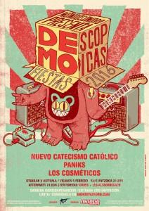 Cartel de la fiesta demoscópica Zarata Mondo Sonoro 2016