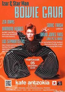 Cartel del Izar & Star man, Bowie Gaua, Kafe Antzokia, Bilbao, 5/III/2016