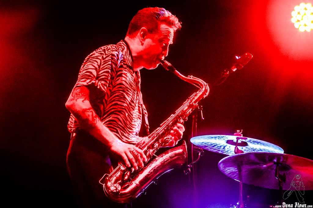 Dani Nel-lo, saxofonista de Los Mambo Jambo (Azkena Rock Festival 2017)