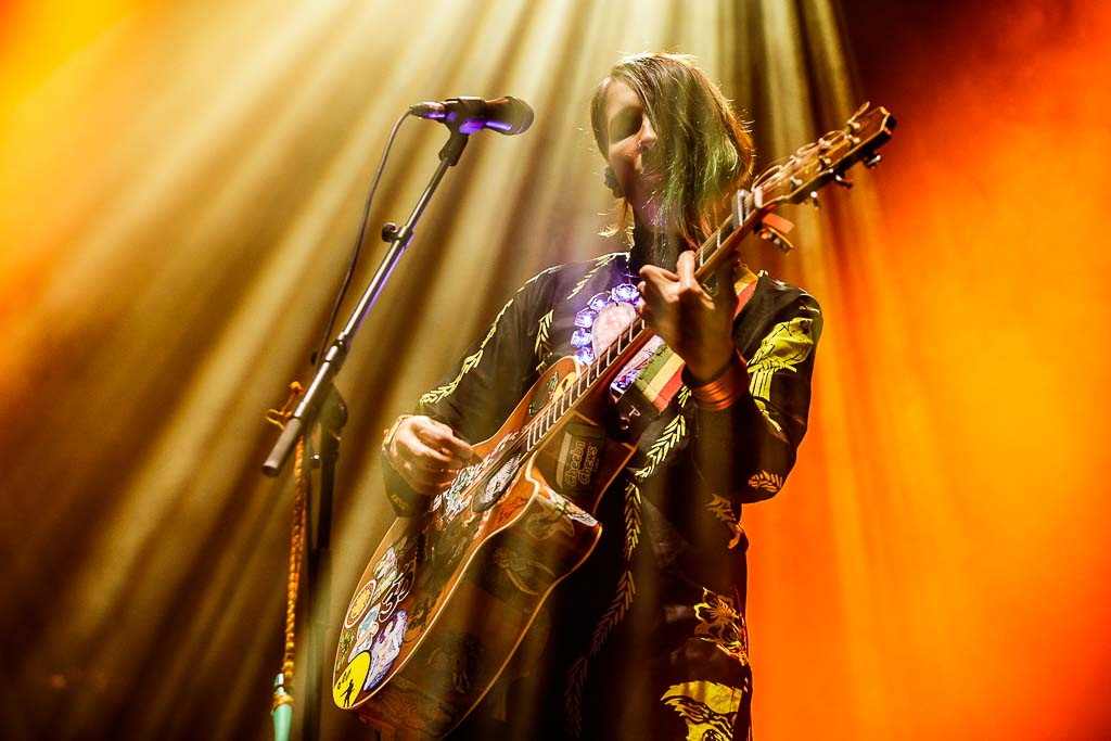 Andrea Echeverri, cantante y guitarrista dde Aterciopelados, Bilbao BBK Live 2017, Kobetamendi, Bilbao, 8/VII/2017